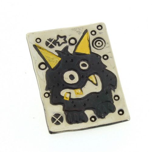 Little black monster brooch, pin