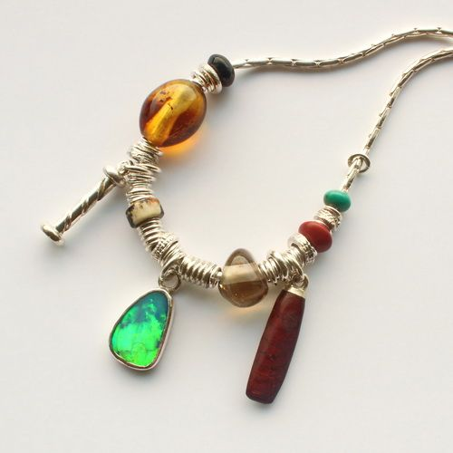 opal doublet necklace three