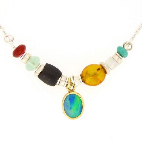Opal doublet necklace two